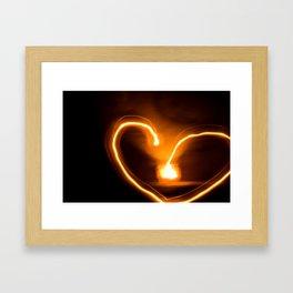fire heart Framed Art Print