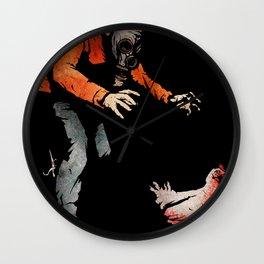 Leroy VS The Zombie Chicken Wall Clock