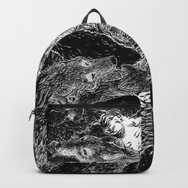 The Child Sleeps (B&W) Backpack