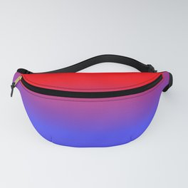 Neon Red and Bright Neon Blue Ombre Shade Color Fade Fanny Pack