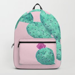 Cactus with pink flowers Backpack