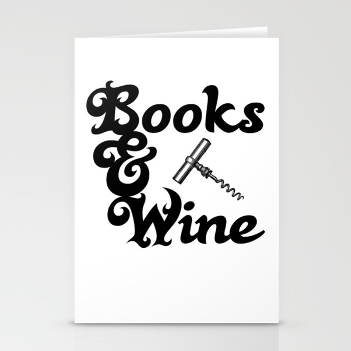 Books & Wine Stationery Cards