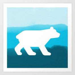Inverted Blue Bear - Wildlife Series Art Print