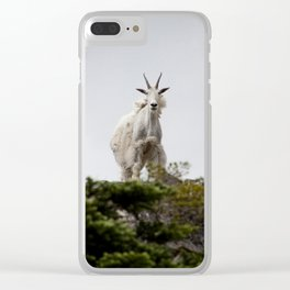 Mountain Goat Scotchman Peak Clear iPhone Case