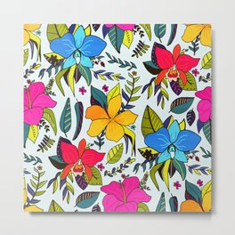 Tropical Floral Metal Print