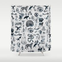 ink Shower Curtains featuring INK by DIVIDUS