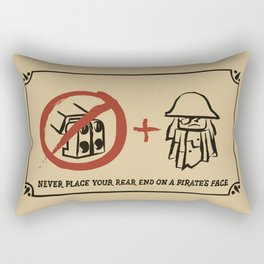 Metal Beard's Rule 1 Rectangular Pillow