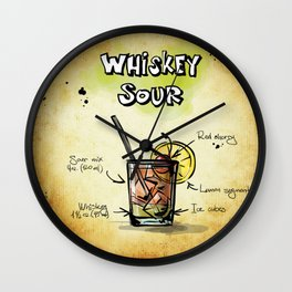 Whiskey Sour Wall Clock