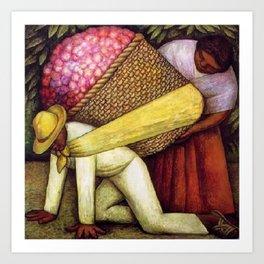 The Flower Carrier (Cargador de Flores) by Diego Rivera Art Print