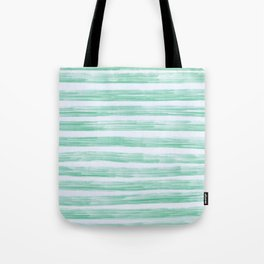 Green Stipes Tote Bag
