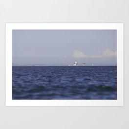 Lighthouse at Dungeness Spit Art Print