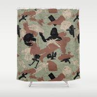 camo Shower Curtains featuring Endor Battle Camo by Josh Ln
