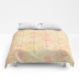 Peachy Keen Hexagons Comforters