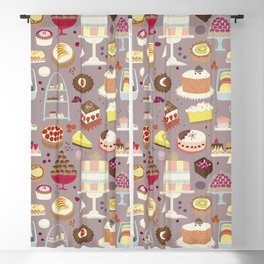 Patisserie Cakes and Good Things Blackout Curtain
