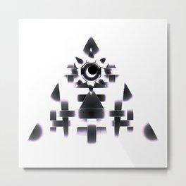 Sun Pyramid Metal Print
