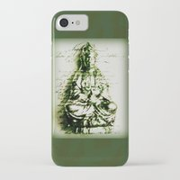 budi satria kwan iPhone & iPod Cases featuring Antique Green Kwan Yin by Jan4insight