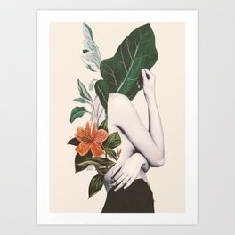 natural beauty-collage 2 Art Print