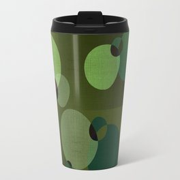 """Retro Green Super Dots"" Travel Mug"