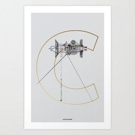 Satellite Cassini S Art Print
