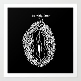 it's right here (inverse) Art Print