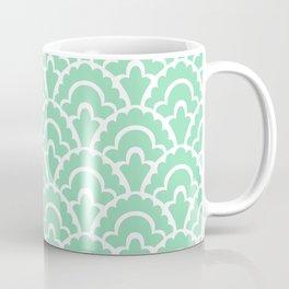Fan Pattern Mint Green 109 Coffee Mug