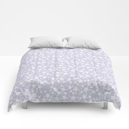 Block Printed Dusty Purple and White Stars Comforters