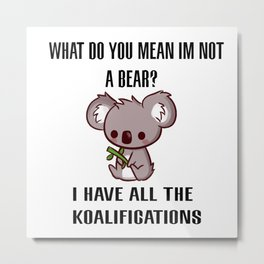 Kowala Bear Metal Print