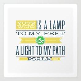 Psalm 119:105 Bible Verses Art Print