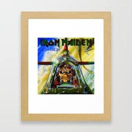 iron maiden aces high tour 2019 2020 mawar Framed Art Print