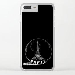 Paris city in a glass ball . Home decor, art prints Clear iPhone Case
