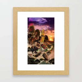 Journey to the west Framed Art Print