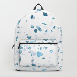 Turquoise Terrazzo White Marble Backpack