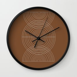 Burnt Orange, Geometric shape Wall Clock