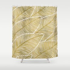 Tropical Gold Shower Curtain