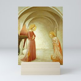"""Fra Angelico (Guido di Pietro) """"Annunciation with Saint Peter the Martyr"""" Mini Art Print"""