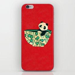 Dinnerware sets - panda in a bowl iPhone Skin
