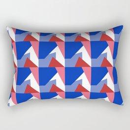 El Blue Cruce Rectangular Pillow