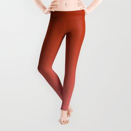 Red to Pastel Red Horizontal Linear Gradient Leggings