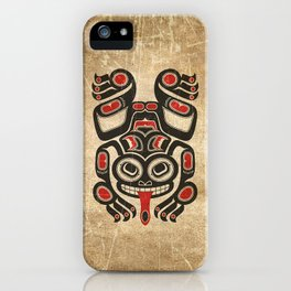 Red and Black Haida Spirit Tree Frog iPhone Case
