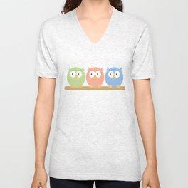 three owls Unisex V-Neck