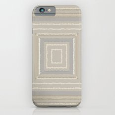 Sandy Beige Concentric Squares Slim Case iPhone 6s