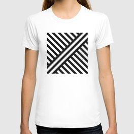 two way stripey diagonal T-shirt