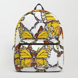 ABSTRACT LACEY PATTERN MONARCH BUTTERFLIES DESIGN Backpack