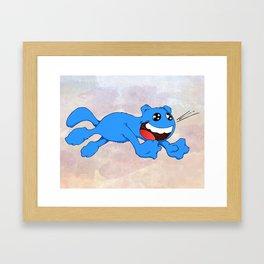 Jumpy Cat Attack Framed Art Print