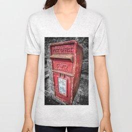British Post Box Unisex V-Neck