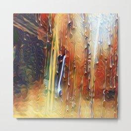 Raindrops Running Down The Window Metal Print