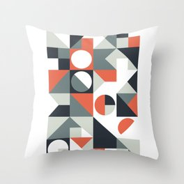 Mid Century Geometric 04 Throw Pillow