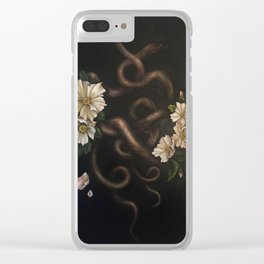 Two Snakes Clear iPhone Case