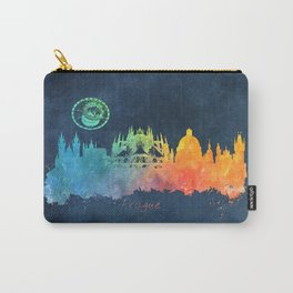 Prague colored skyline Carry-All Pouch