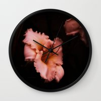 lily Wall Clocks featuring Lily by Christine Belanger